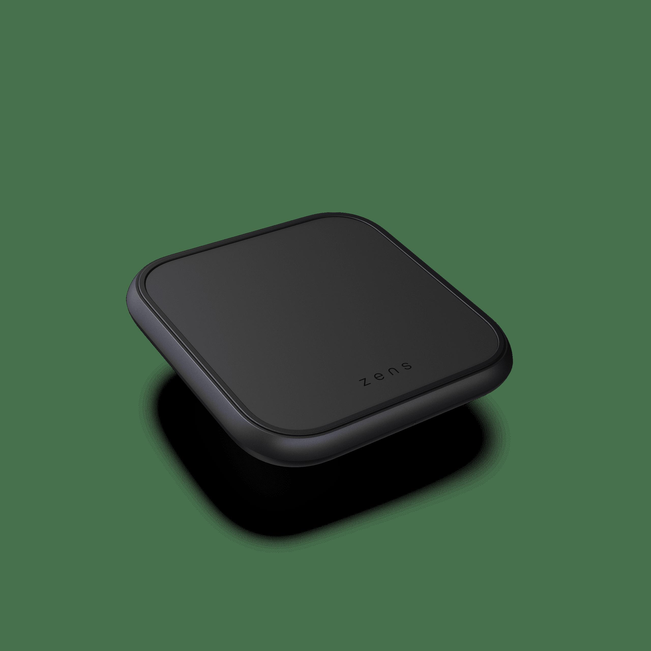 ZESC14B - Single Aluminium Wireless Charger Top Side View