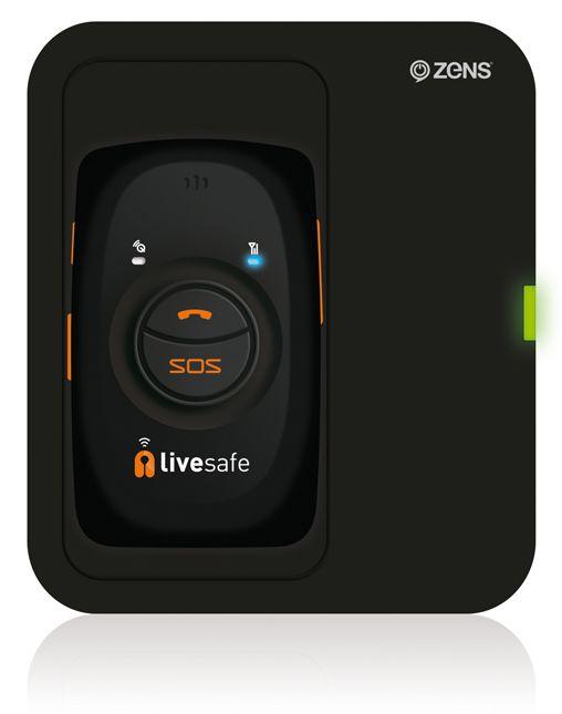 LiveSafe Orange ZENS Single Wireless Charger Black