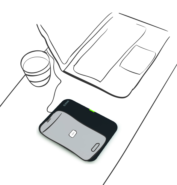 ZENS Single Wireless Charger Drawing