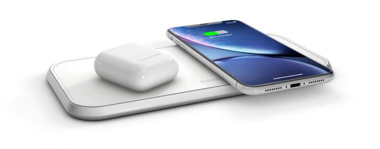 ZENS Dual Aluminium Wireless Charger with Apple AirPods and iPhone Xr AirPower alternatives