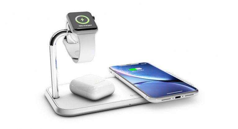 ZENS Dual+Watch Aluminium Wireless Charger with Apple Watch, AirPods and iPhone Xr AirPower alternatives