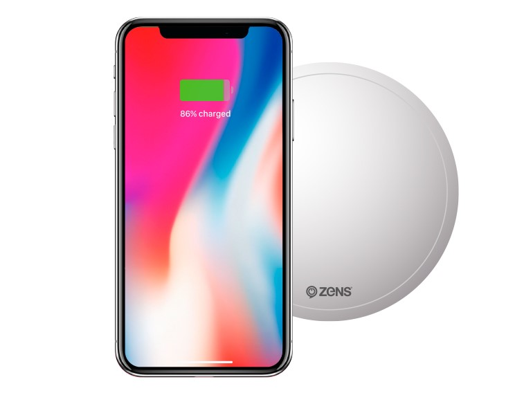 ZENS PuK while wirelessly charging the iPhone