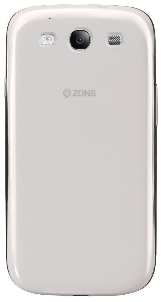 ZENS Galaxy S3 Wireless Charging Case White