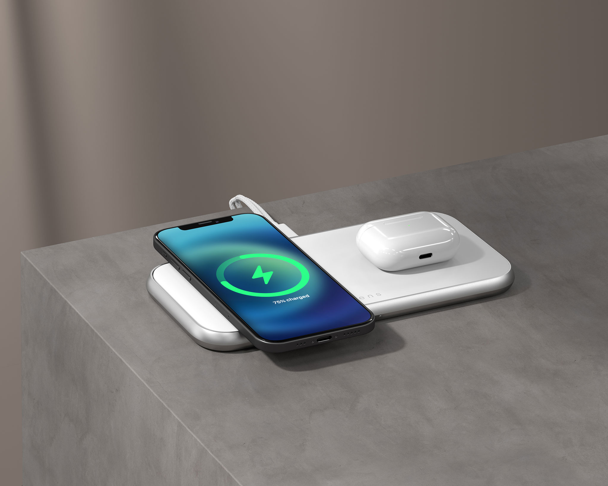 ZEDC16W - Zens 3 in 1 MagSafe Wireless Charger Lifestyle