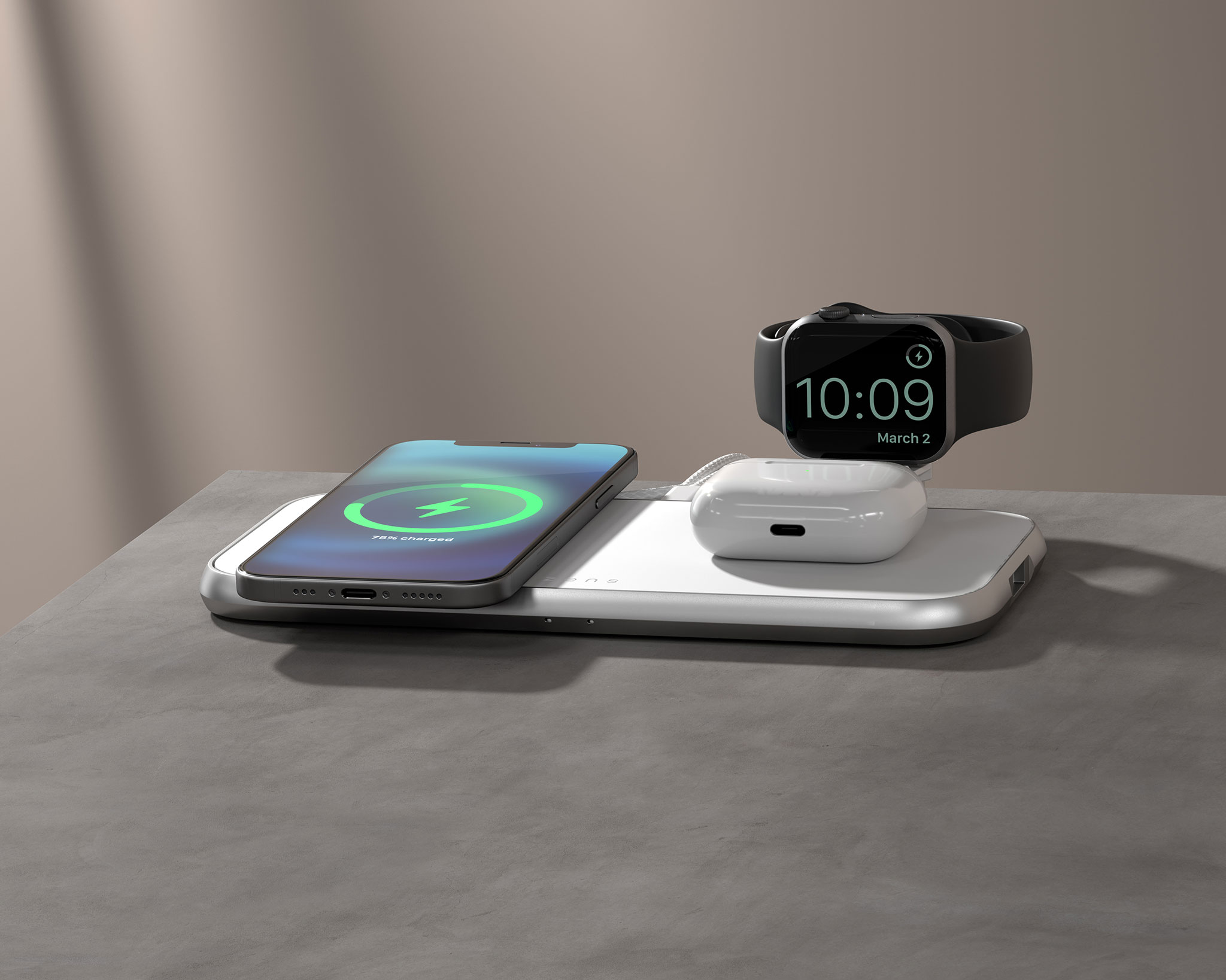 ZEDC17W - Zens 4-in-1 MagSafe Wireless Charger lifestyle