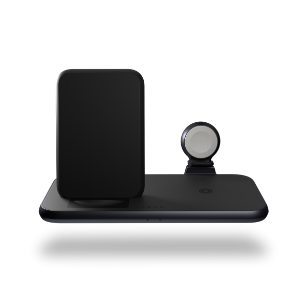 ZEDC15B - 4 in 1 Stand+Watch Wireless Charger Aluminium Front View