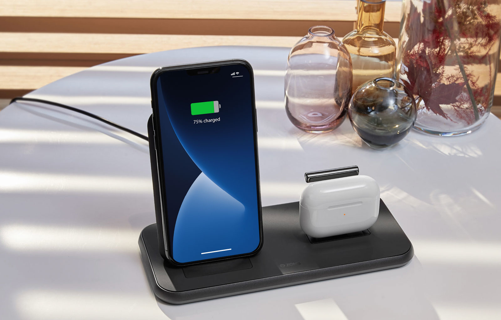 Stand + Dock wireless charger with Airpods