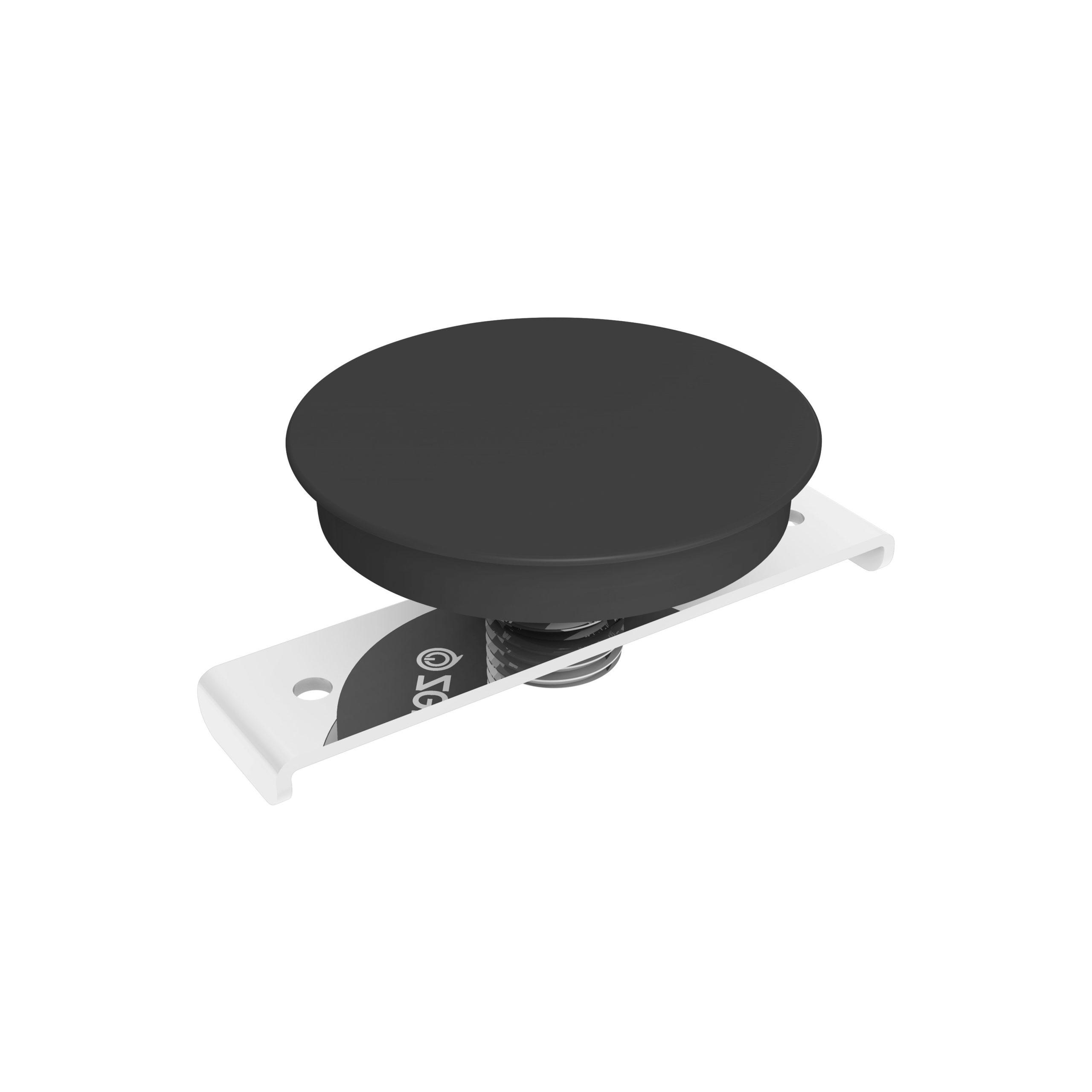 ZEBI01B/00 - Zens Built-in wireless charger round black 3D view