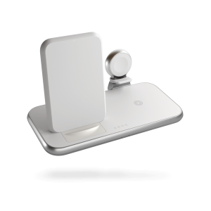 ZEDC15W - 4 in 1 Stand+Watch Wireless Charger Aluminium Front Side View