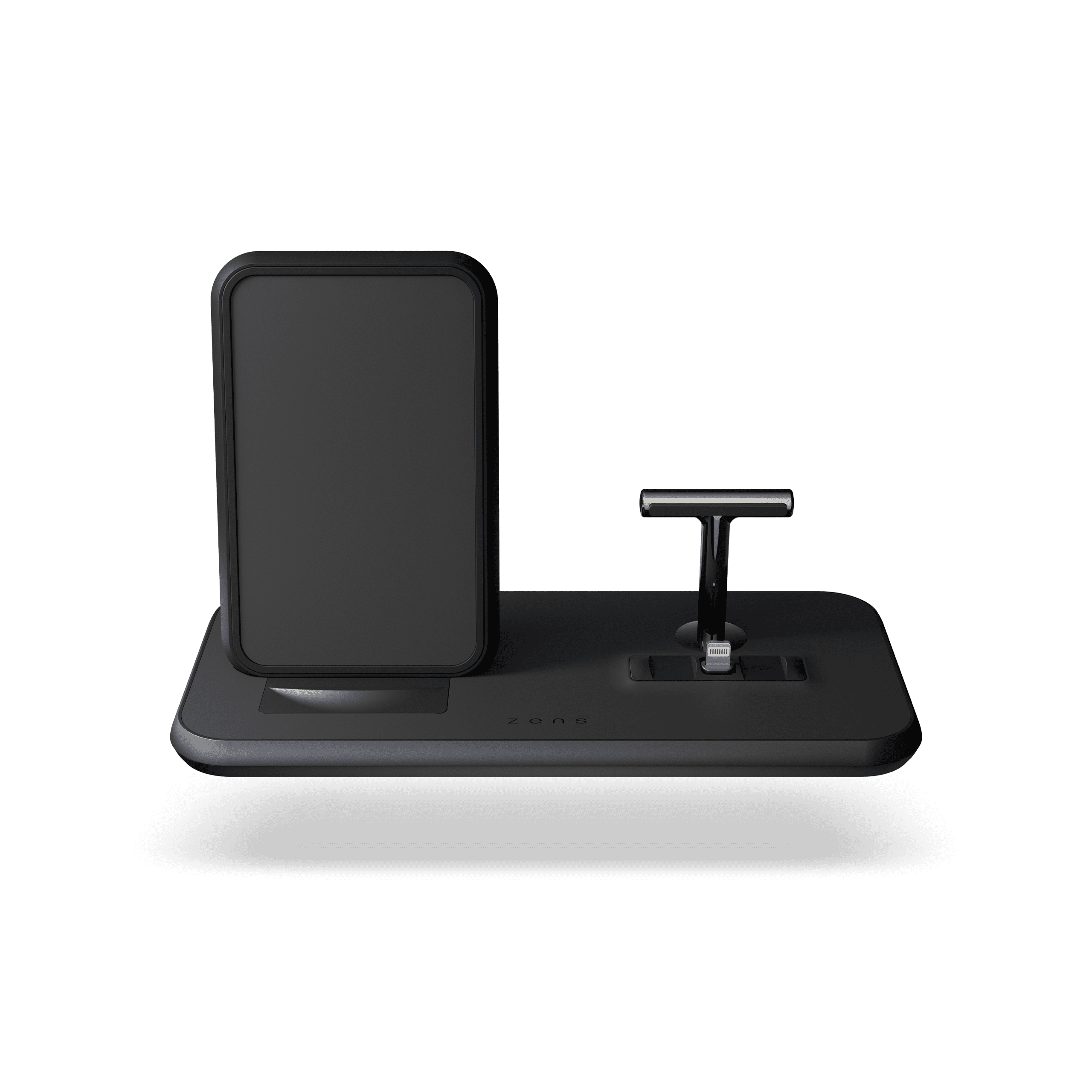 Black Stand+Dock Aluminium Wireless Charger - Airpods