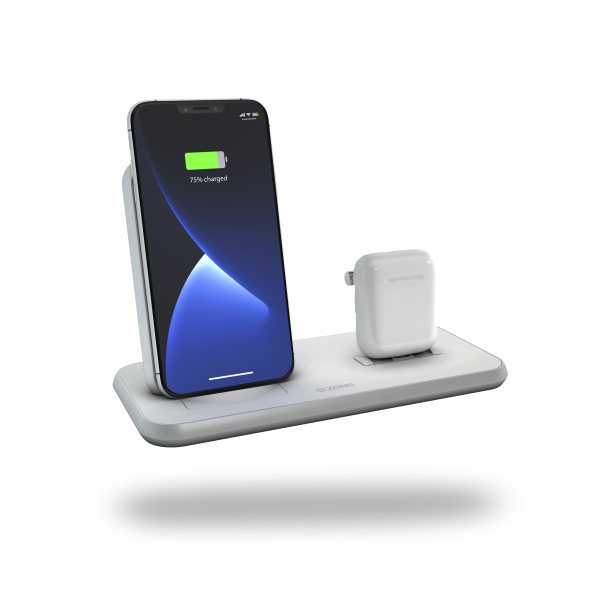 Stand+Dock wireless charger white