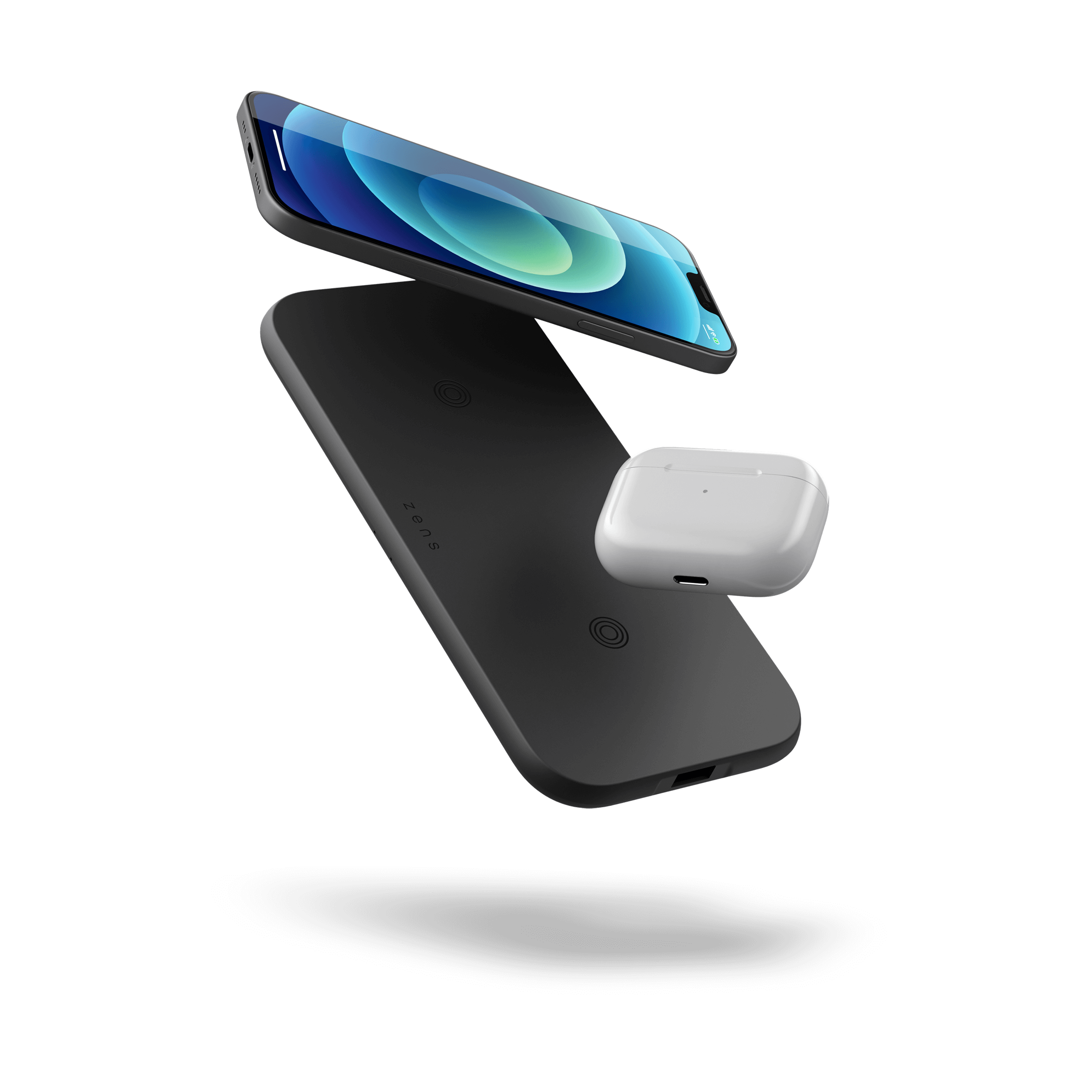 ZEDC12B - Zens Dual Wireless Charger with devices