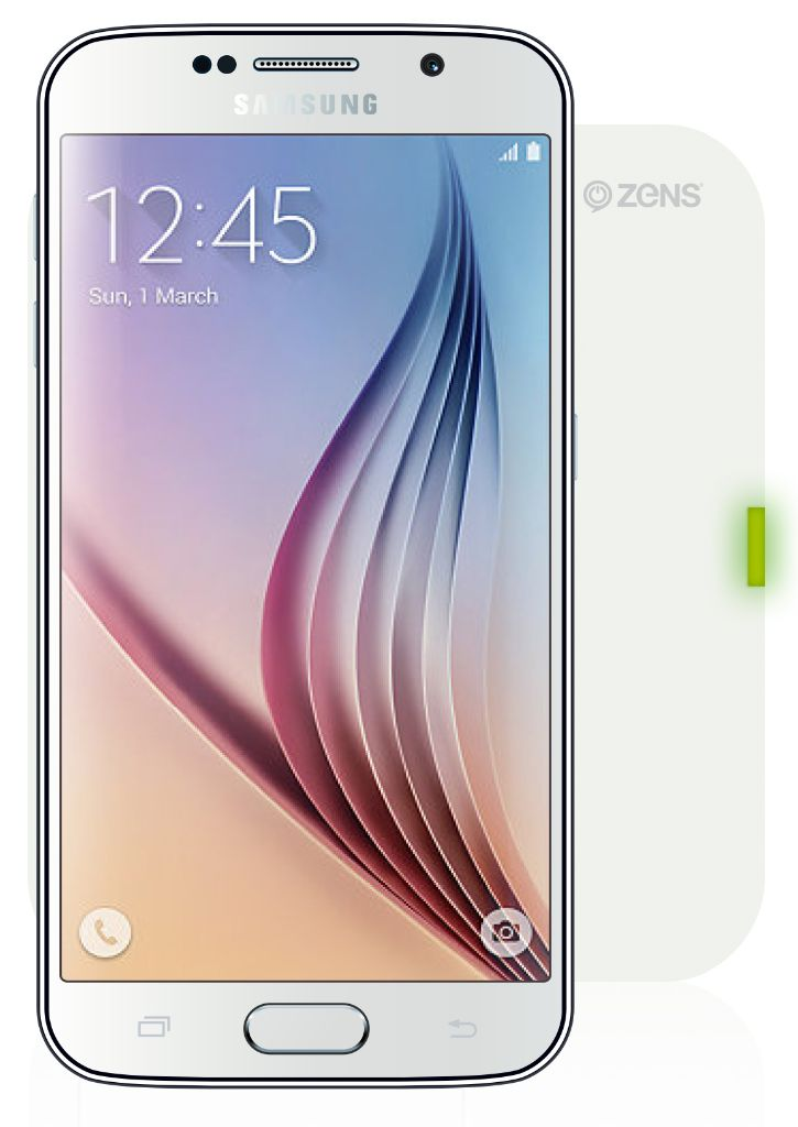 Samsung Galaxy S6 Qi Wireless Charger White ZENS