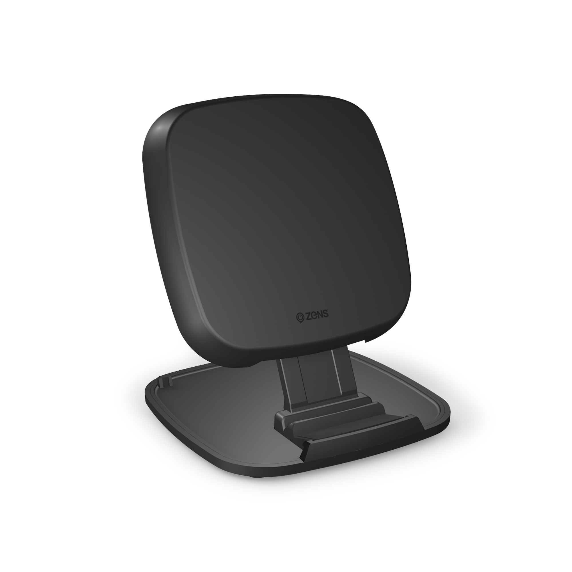 ZESC06B - Zens Fast Wireless Charger Stand Black Front Side View
