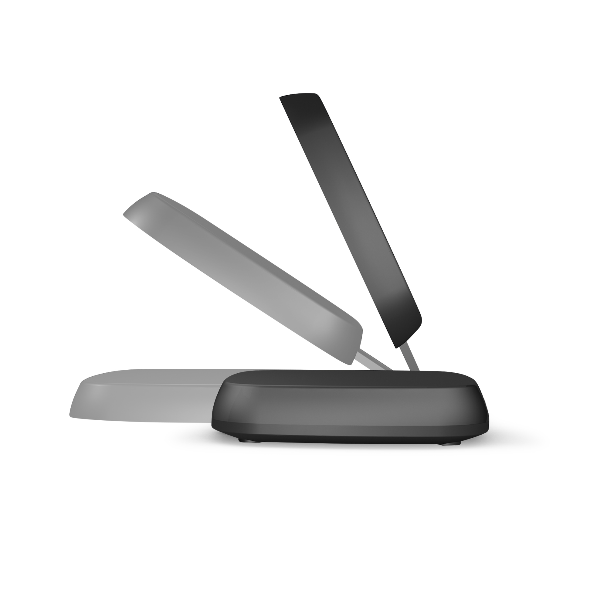 ZESC06B - Zens Fast Wireless Charger Stand Black Side View