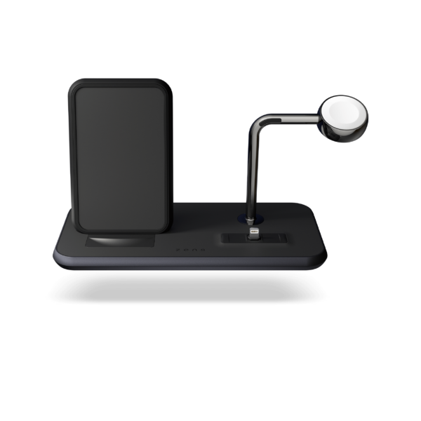 ZEDC07B - Zens Stand+Dock+Watch Wireless Charger Front View