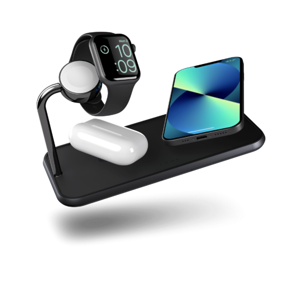 ZEDC05B - Zens Dual+Watch Aluminium Wireless Charger iPhone13