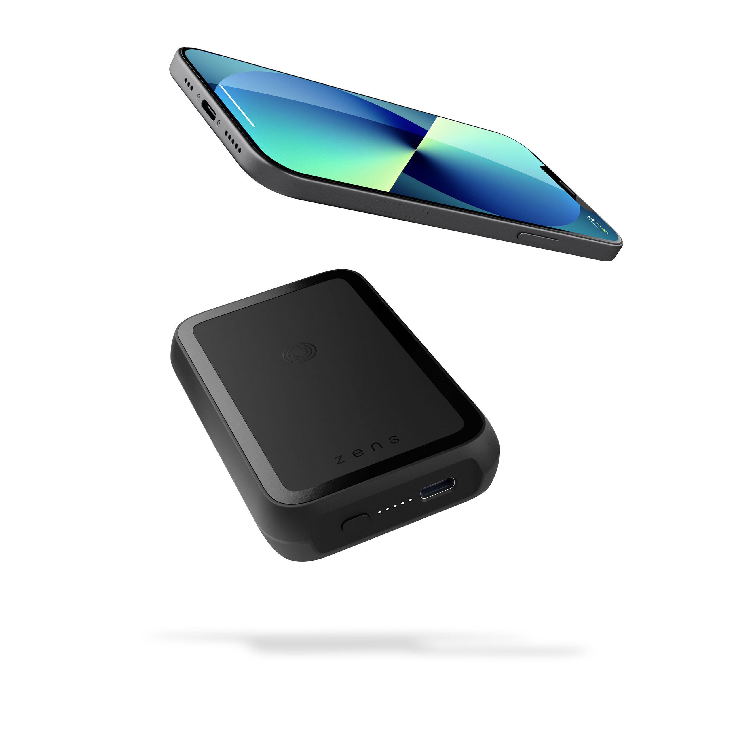 ZEPP02M - Magnetic Single Powerbank with Stand with Floating iPhone 13